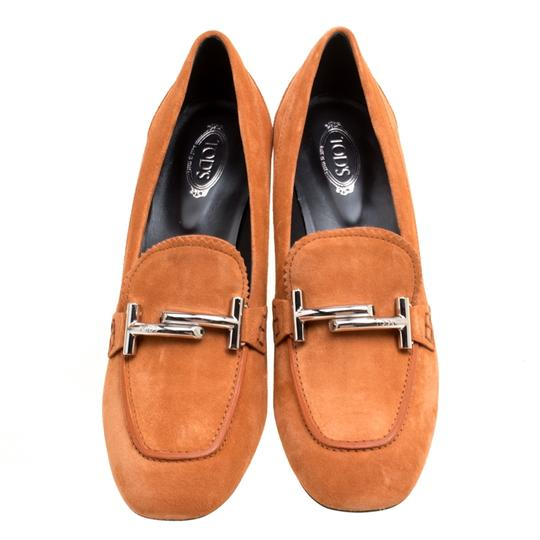 Tod's Suede Leather Orange Pumps Image 2
