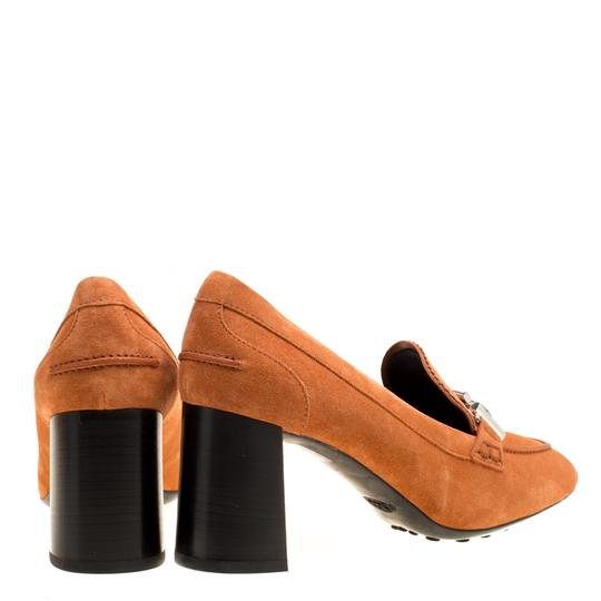 Tod's Suede Leather Orange Pumps Image 3