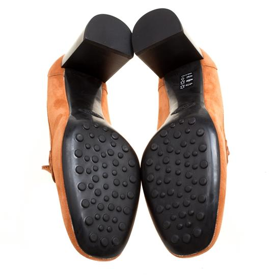 Tod's Suede Leather Orange Pumps Image 4