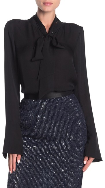 Preload https://img-static.tradesy.com/item/26427271/joie-black-nadal-silk-neck-blouse-size-6-s-0-1-650-650.jpg