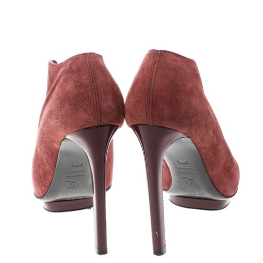Alexander McQueen Suede Ankle Leather Red Boots Image 2