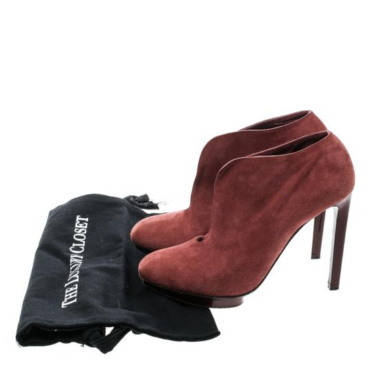 Alexander McQueen Suede Ankle Leather Red Boots Image 7