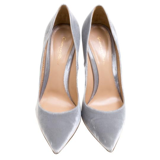 Gianvito Rossi Pointed Toe Grey Pumps Image 2