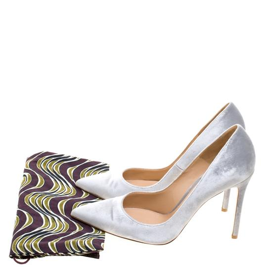 Gianvito Rossi Pointed Toe Grey Pumps Image 7
