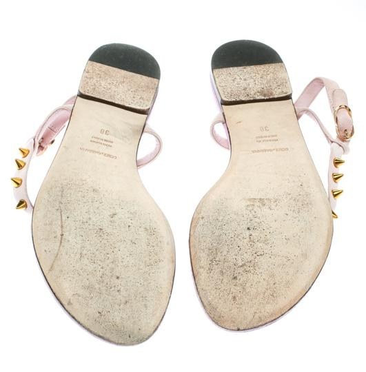 Dolce&Gabbana Suede Detail Leather Ankle Strap Pink Sandals Image 3