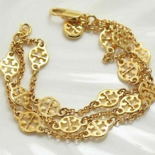 Tory Burch New In Gift Box--no Tags-triple Strand Treva Logo- Image 3