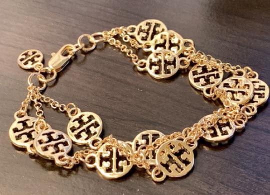 Tory Burch New In Gift Box--no Tags-triple Strand Treva Logo- Image 4