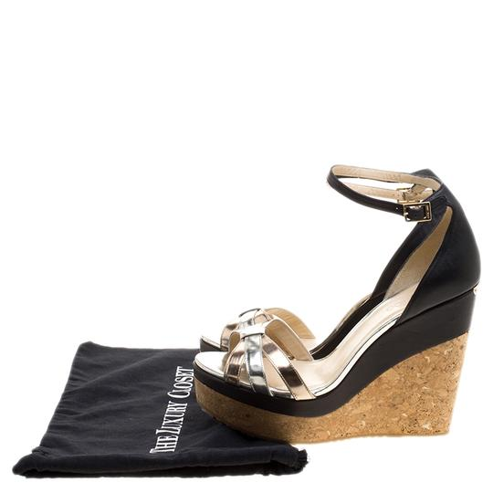 Jimmy Choo Leather Ankle Strap Metallic Sandals Image 7