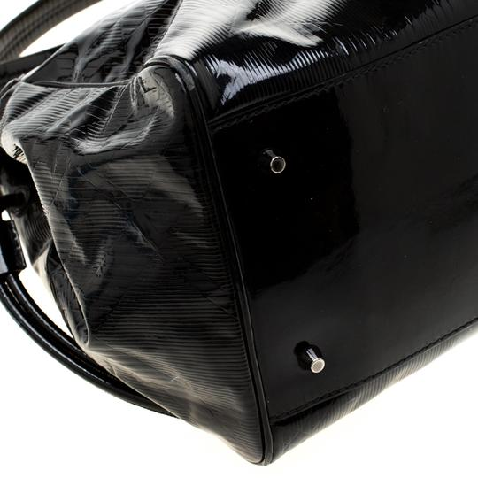 Burberry Canvas Patent Leather Tote in Black Image 5