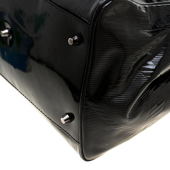 Burberry Canvas Patent Leather Tote in Black Image 7