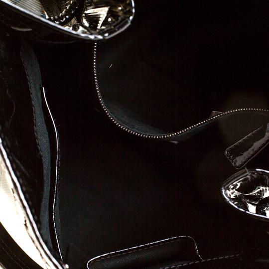 Burberry Canvas Patent Leather Tote in Black Image 8