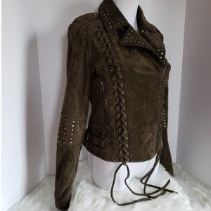 Bagatelle Army green Leather Jacket