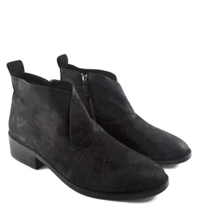Eileen Fisher Leather Nubuck Chunky Black Boots