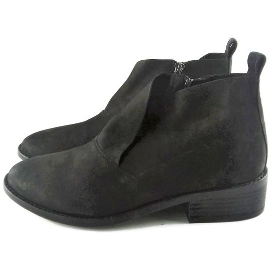 Eileen Fisher Leather Nubuck Chunky Black Boots Image 2
