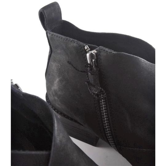 Eileen Fisher Leather Nubuck Chunky Black Boots Image 3