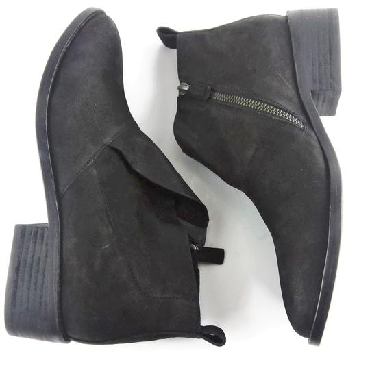 Eileen Fisher Leather Nubuck Chunky Black Boots Image 4