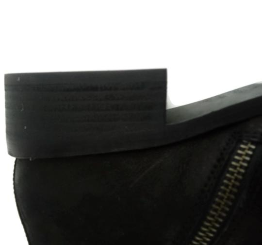 Eileen Fisher Leather Nubuck Chunky Black Boots Image 6