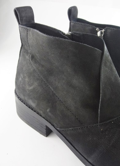 Eileen Fisher Leather Nubuck Chunky Black Boots Image 8