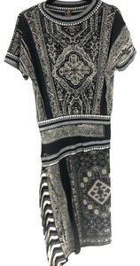 Jean Paul Gaultier Fringe Asymmetrical Short Sleeve Dress