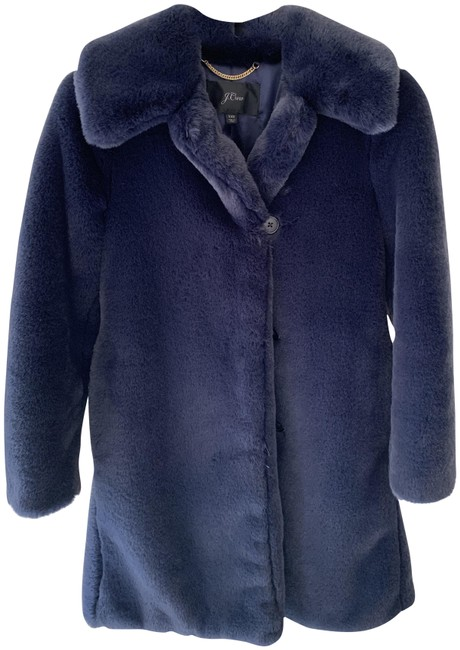 Item - Navy Blue Teddy Coat Size 00 (XXS)