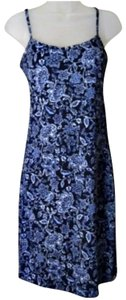 Byer Too short dress Navy Blue & Light Blue on Tradesy