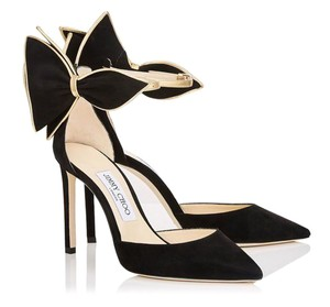 Jimmy Choo Bow Hollywood Party Date Night Black Pumps