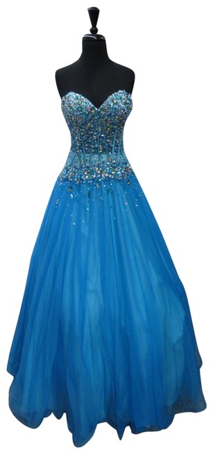 Item - Turquoise 010534/ Long Formal Dress Size 2 (XS)