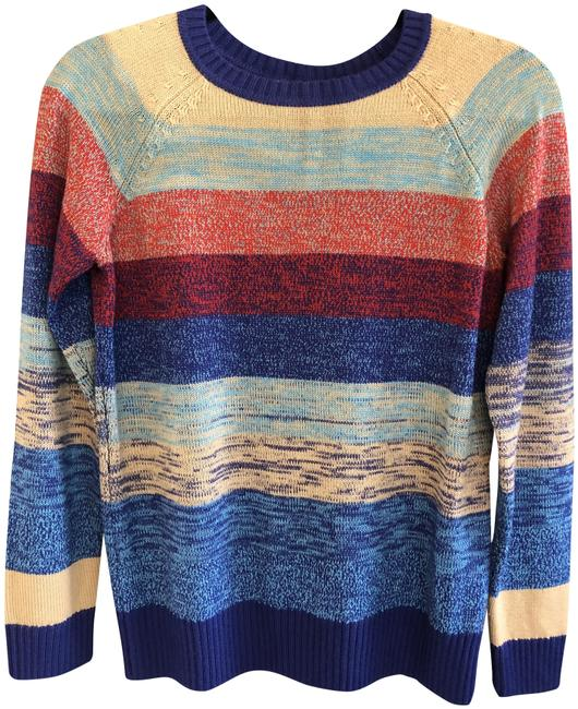Item - Striped Long Sleeve Multi Color Sweater