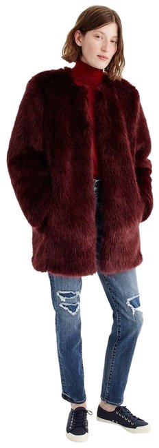 Item - Burgundy Collection Faux-fur # H3624 Coat Size 8 (M)