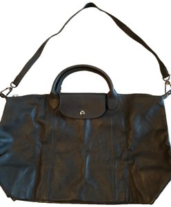 Longchamp Tote in Charcoal gray