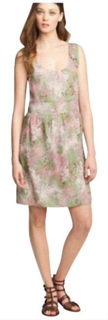 J.Crew Pink Green Beige Style 4106b Short Casual Dress Size 4 (S) J.Crew Pink Green Beige Style 4106b Short Casual Dress Size 4 (S) Image 1