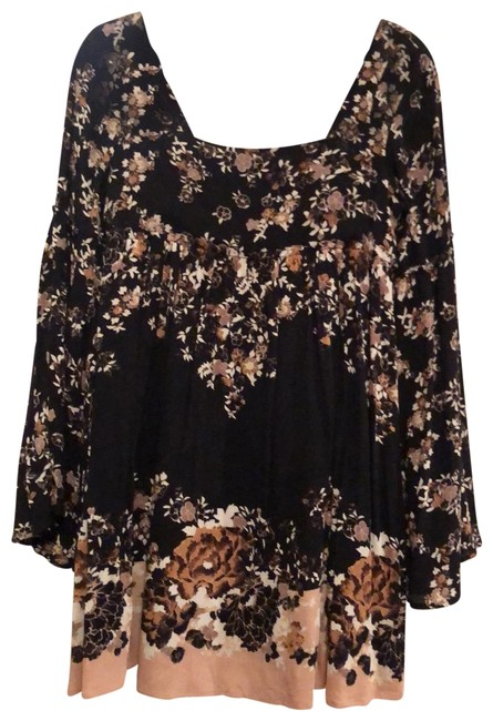 Item - Black White Tan Flowy Sleeve Short Casual Dress Size 2 (XS)
