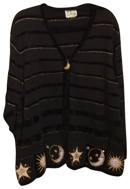 Item - New Years Eve Black Gold Silver and White Sweater