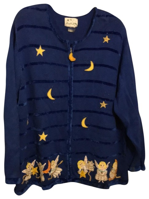 Item - Blue with Multi Colored Angels Sweater