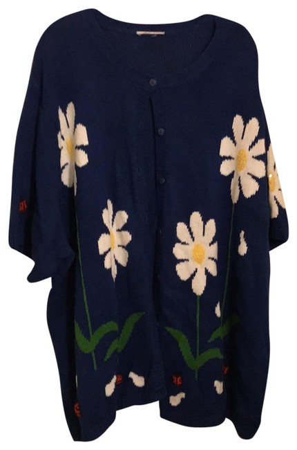 Item - Blue W White Flowers and Red Ladybugs Sweater