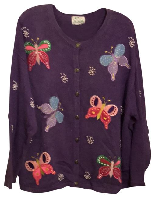 Item - Purple with Multi Colored Butterflies Sweater