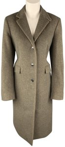 Luciano Barbera Wool Buttoned Single Breasted Italy Trench Coat