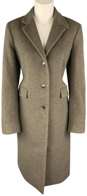 Item - Muted Green Olive Wool Blend Coat Size 12 (L)