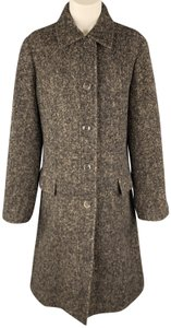 Luciano Barbera Alpaca Italy Single Breasted Pointed Collar Trench Coat