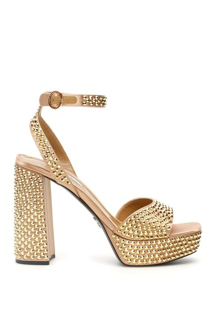 Item - Gold Cr Crystal 7 Sandals Size EU 37 (Approx. US 7) Regular (M, B)