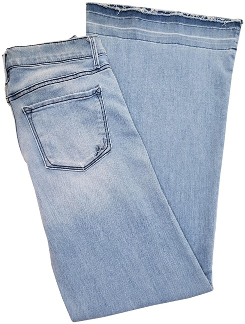 Item - Blue Distressed New Precision Fit Flare Leg Jeans Size 29 (6, M)