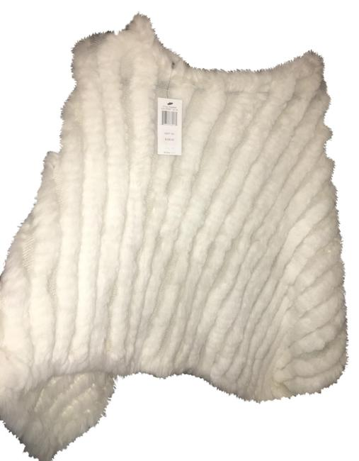 Item - Winter White Bcbg Fur Poncho/Cape Size OS (one size)