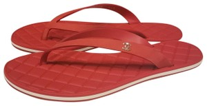 Chanel Flat Thong Red Sandals