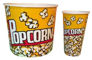 Brand-New Plastic Popcorn Tubs (Size: HUGE and Regular) [ TommiesCloset ]