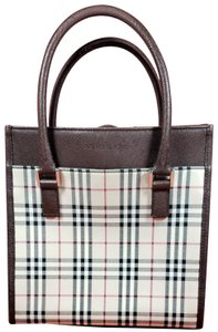 Burberry Tote in Brown & Black