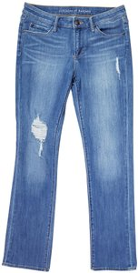 Articles of Society Distressed Mid Rise Straight Leg Jeans-Distressed