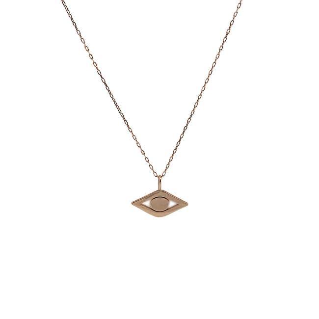 Item - 14k Rose Gold Pure Small Evil Eye Necklace