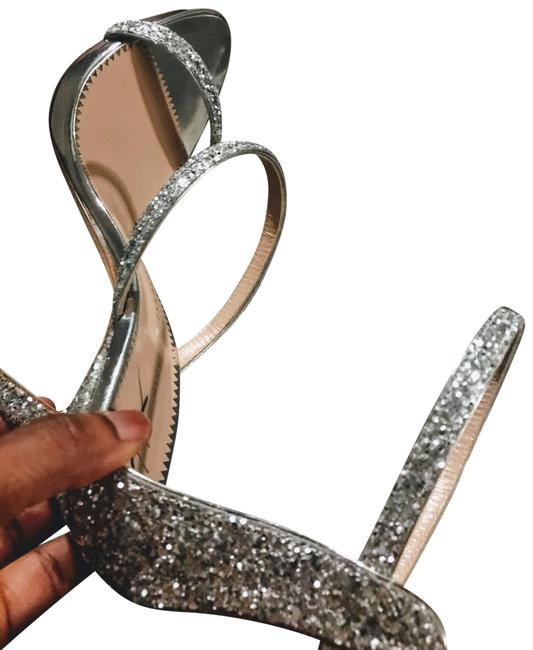 Item - Silver Harmony 120 Glitter Sandals Platforms Size US 8 Regular (M, B)