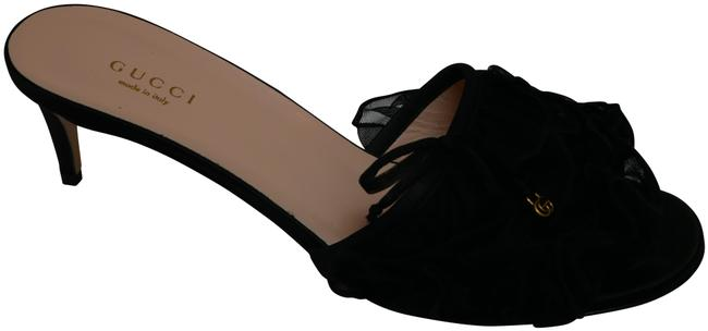 Item - Black Kimchi Tulle Kitten Heel Sandal - 570021_98x10_1000 Pumps Size EU 38 (Approx. US 8) Regular (M, B)