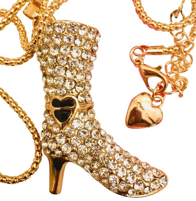 Item - Black and Gold. Bling Boot. Necklace